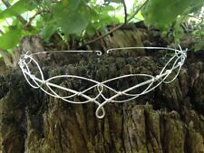 Silver Circlet Tiara Crown Medieval Elven Bridal Headpiece