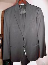 ARMANI COLLEZIONI 2 BUTTON 2 PINSTRIPED BROWN SLIM FIT SIZE 38R
