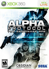 Alpha Protocol Espionage RPG Microsoft Xbox 360 Video Game by Sega 2010 NIB NIP