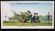 Royal Horse Artillery   Firing a Royal Salute  Original  Vintage Card  # VGC