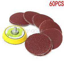 60PCS 2 Inch Multi Mix Sanding Disc Grit Polishing Sander Pad With Drill Adapter