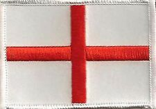 ST. GEORGE CROSS FLAG EMBROIDERED IRON ON PATCH england british national pride