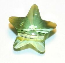 SCS342f PERIDOT Green Faceted Star 12mm Swarovski Crystal Pendant Bead 1/pkg