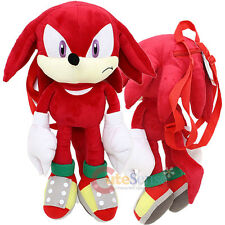 "Sonic The Hedgehog Knuckles Plush Doll Bag Custom Backpack  21"" XL Kids to Aduts"