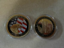 CHALLENGE COIN MILITARY REMEMBER 911 UNITED WE STAND TWIN TOWERS FREE CAPSULE
