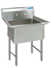 "Bk Resources 18""X18""X12"" One Compartment Sink W/ S/S Legs - Bks-1-18-12S"