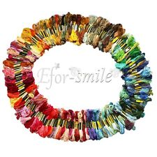 Lot 200 Skeins DNC Embroidery Floss Thread 100% Cotton NEW Assortment of Colors