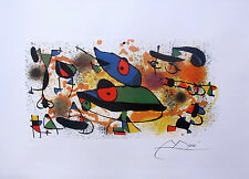 "JOAN MIRO ""SCULPTURES II"" Facsimile Signed Limited Edition Lithograph"