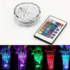 Battery Operated Remote Controlled RGB LED Light LED Submersible Floral Light