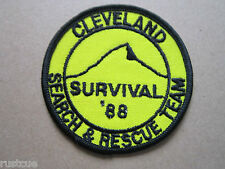 Cleveland Search & Rescue Team Survival 88 Woven Cloth Patch Badge