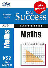 LETTS KS2 SUCCESS MATHS SATs 11+ REVISION GUIDE QUESTIONS ANSWERS TEST PAPER