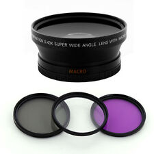 Wide .43x Fisheye Lens 67mm Filter kit fo Canon EOS 7D 50D 60D 600D T3i 18-135mm