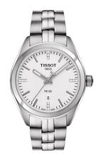 New Tissot PR100 Silver Dial Stainless Steel Women's Watch T1012101103600