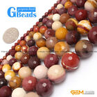 "Faceted Mookaite Jasper Round Beads For Jewelry Making Strand 15"" Free Shipping"