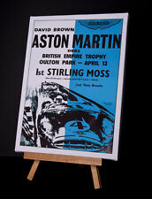 ASTON MARTIN/MOSS CANVAS PRINT STRETCHED AND FRAMED