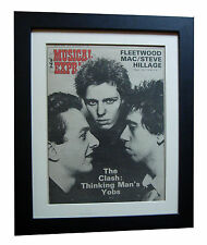 THE CLASH+NME+1977+POSTER+AD+PUNK+FRAMED+ORIGINAL+VINTAGE 77+EXPRESS GLOBAL SHIP