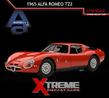 AUTOART 70198 1:18 1965 ALFA ROMEO TZ2 RED SUPERCAR DIECAST MODEL CAR