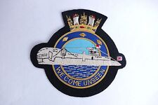 ROYAL NAVY SUBMARINE SERVICE '' WE COME UNSEEN '' U BOAT BULLION BLAZER BADGE