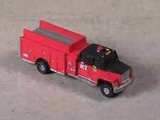 N Scale 2010 Ford Black & Red Cab Fire Pumper