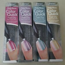 ×4 assorted Sally Hansen Color Quick, nail color pens