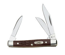 W.R. Case & Sons 6333 SS Brown Handle Small Stockman 3-Blade Pocket Knife 00081