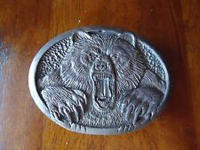 RARE Belt Buckle Vicious Grizzly Bear approx. 3.25 x 2.5 inches (I)