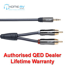 QED Performance Audio Graphite J2P 3.5mm Mini Jack to 2 RCA Aux Cable 3m QE6501