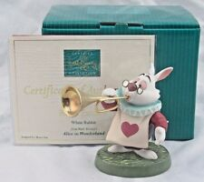 "WDCC ""Royal Fanfare"" White Rabbit from Alice in Wonderland in Box COA, SIGNED!"