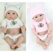 "CHEAP Gifts 10""Handmade Reborn Baby Realistic Lifelike Doll Playmate Clothes+Cap"