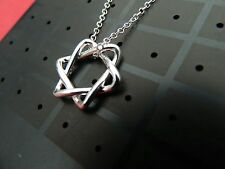 Star pendant and chain 925 silver plated