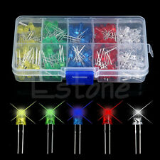 200Pcs/Set 5mm LED Light White Yellow Red Blue Green Assortment Diodes DIY Kit