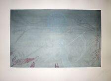 Joan Ponc Gravure originale 1973 Signée art abstrait Museo Reina Sofía de Madrid