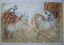 GUINY Jean-Marie - Grande gravure cheval chevaux etching horse