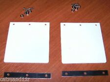 White Mud Flaps to Suit Tamiya 1/14 RC Trucks Trailers Hauler Aeromax