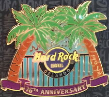 Hard Rock Hotel ORLANDO 2017 16th Anniversary PIN on Card HRH Logo & Palm Trees!