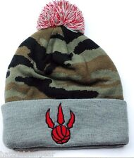 MITCHELL & NESS NBA BASKETBALL TEAM LOGO POM KNIT HAT/BEANIE - TORONTO RAPTORS