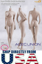 Phicen 1/6 Super Flexible Seamless Body L Bust PALE S10D Removable Feet U.S.A.