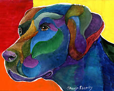 Labrador Retriever 8X10 DOG Print from Artist Sherry Shipley