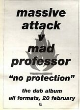 25/2/95PGN20 MASSIVE ATTACK VS MAD PROFESSOR : NO PROTECTION DUB ALBUM ADVERT 7X