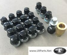RANGE ROVER SPORT BLACK ALLOY WHEEL NUTS LOCKING NUTS - 16 & 4 LOCK NUTS LRC1110