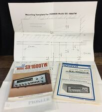 Original Pioneer SX-1000TW Receiver Operating Service Manual Brochure Template