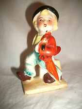 Vintage Boy Walking with Suitcase & Umbrella Figurine - Made in Japan