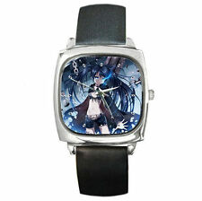 Anime Black Rock Shooter girls boys leather watch