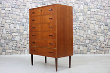 60er TEAK KOMMODE HIGHBOARD DANISH 60s CHEST TEAK DANISH