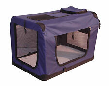 "36"" Folding Navy Blue Pet Dog House Soft Crate Carrier"