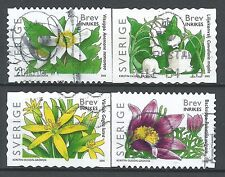 ˳˳ ҉ ˳˳SW25 Sweden Sverige Complete set 2005 Different Forest Spring Flowers