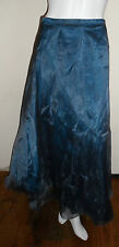 bnwt new monsoon teal dupion organza long maxi party skirt size 12 rrp £135