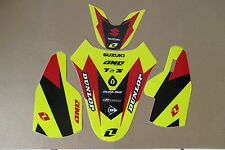 ONE INDUSTRIES FORK GUARD    FRONT &  REAR FENDER  GRAPHICS SUZUKI  RM85
