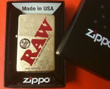New RAW cigarette rolling papers brand ZIPPO GOLD DUST BOXED LIGHTER FREE SHIP!