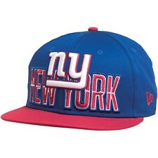 NEW Era NFL 9 FIFTY bozza logo New York Giants Snap Back Blu-Nuovo con etichette